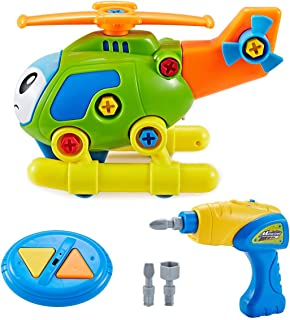 Think Gizmos Take Apart Toy Mission Helicopter Kit for Kids TG711 - Build Your Own Toy Kit for Boys & Girls Aged 3 4 5 6 7 8 - Fun Educational Learning Toy