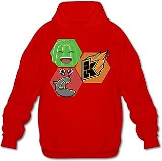 Louie-Riley Youtube Jelly Kwebbelkop Slogoman Hoody Pullover Sweatshirt Men Shirt Red