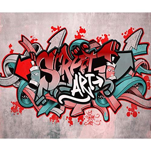 decomonkey Fototapete Graffiti 300x210 cm Design Tapete Fototapeten Tapeten Wandtapete moderne Wand Schlafzimmer Wohnzimmer Street Art Jugendzimmer