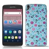 FUBAODA for für Alcatel one Touch Idol 3 (5.5 inch) Hülle, 3D Erleichterung Bunte Blumen Muster TPU Hülle Schutzhülle Silikon Hülle für for für Alcatel one Touch Idol 3 (5.5 inch)