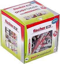 Fischer Duo Power universele pluggen, maat 8 x 65 mm, verpakking van 50 stuks,