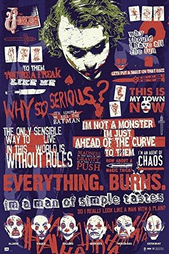 ERIK Batman The Joker Quitographic Dark Knight Poster