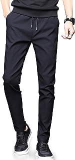 NEWHEY チノパン メンズ スキニーパンツ スーパーストレッチ スウェットズボン 細身デザイン 大きいサイズ 夏 秋 ブラック ネイビー グレー
