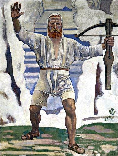 Posterlounge Holzbild 70 x 90 cm: Wilhelm Tell von Ferdinand Hodler/ARTOTHEK