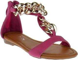 8c8c26784a4f Link Nini 05K Little Girls Chain Thong Sandal White