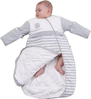 Baby Organic Sleeping Bag Detachable Sleeve Wearable Blanket Spring&Autumn