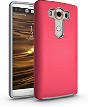 ACMBO LG V10 Non-Slip case, Dual Guard Protective Shock-Absorbing Scratch-Resistant Rugged Drop Protection Case Cover for LG V10 H900 H901 VS990 H960A H962 5.7 inch, Rose Red
