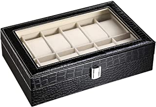 CRITIRON Wrist Watches Box, Watches Storage Box Organizer Case
