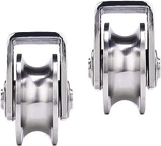 Casters U-Groove 2 x stijve werkwielen, pistoolrol, houder, voor overloopwielen, ringen, deuren, kraan, eenvoudig te insta...