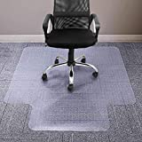 Office Chair Mat for Carpeted Floor, 36 x 48 inches, Premium PVC Material Chair Mat with Lip, Easy Glide Transparent Mats for Chairs, Good for Desks, Floor Mats for Office, Protects Floors