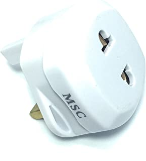 SupersmartUK 2 Pin to UK 3 Pin Travel AC Power Adapter Plug Converter Adaptor Plug 1 Pack