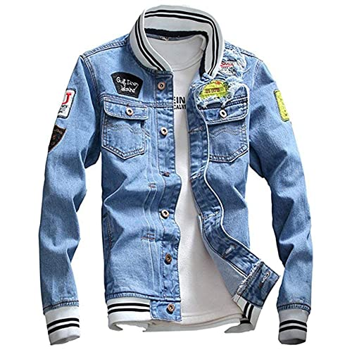 eda3b1c3a23ea Jean Jacket with Patches  Amazon.com