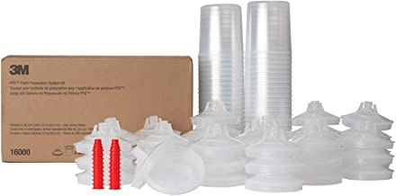 3M PPS Paint Spray Gun Cup Lids and Liners Kit, 16000,Standard, 22 Ounces, 200-micron Filter, Use with Paint Gun for Cars, Furniture, Home and More,50 Disposable Lids and Liners, 20 Sealing Plugs