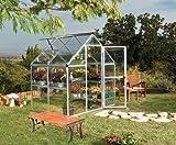 Palram Harmony Serre de Jardin– Polycarbonate Transparent, Cadre en Aluminium, Base Incluse – Verte