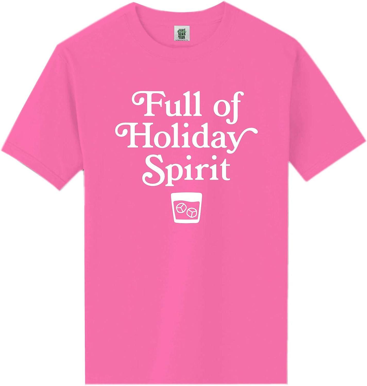 zerogravitee Full of Holiday Spirit Neon Pink Short Sleeve T-Shirt - XX-Large