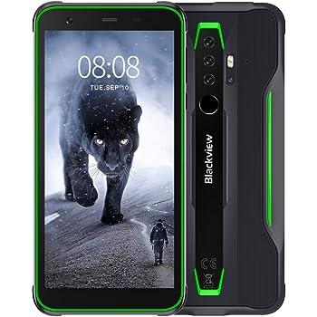 """Blackview BV6300 Pro Móvil Libre Resistente Android 10 Smartphone 4G con Cámara Cuádruple 16MP+13MP, Helio P70 Octa-Core, 6GB+128GB-SD 128GB, Batería 4380mAh, 5.7"""" HD+ Teléfono Robusto, NFC/GPS-Verde: Amazon.es: Electrónica"""