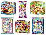 Kracie Popin Cookin DIY Candy Set 6 Kits Hamburguesa Sushi Fun Festival Gummy Land Rainbow Jelly Beads Nerunerunerune