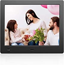 Digital Photo Frame 8 inch IPS LCD(4:3) Digital Picture Frame with Motion Sensor.Electronic Photo Frame with Calendar/Time/Video Player/MP3/Remote Control/Stereo