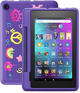 """Introducing Fire 7 Kids Pro tablet, 7"""" display, ages 6+, with 2-year warranty, thousands of apps, games, books and more in..."""