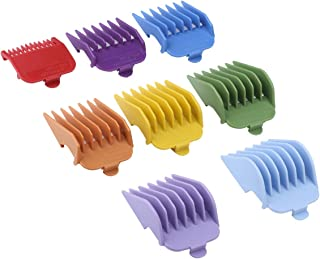 "Professional 8 Color Coded Cutting Guides/Combs #3170-400- 1/8"" to 1 -Great Fits for Professional All Full Size Wahl Clippers/Trimmers"