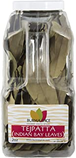 Indian Bay Leaves (Tej Patta) Pure Natural Dried Indian Spice Kosher (2oz.)