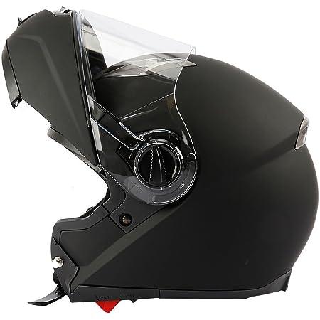 Mach1 Flip Up Klapphelm Helm Motorradhelm Mit Integrierter Sonnenblende Größe Xs Bis Xxl Bekleidung