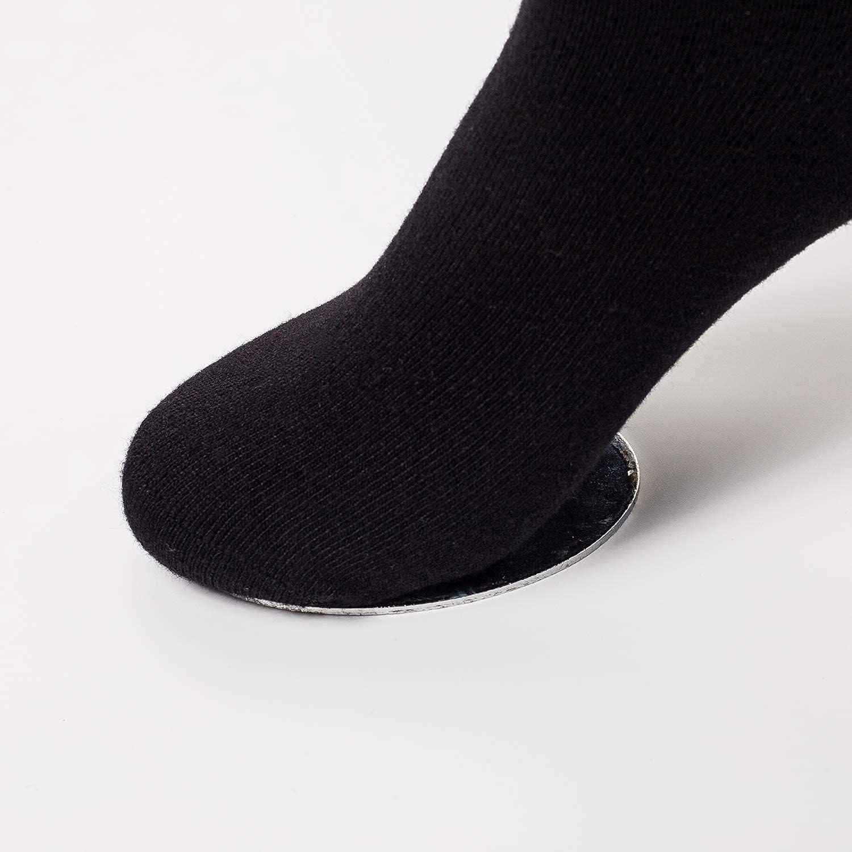 PACKO Mens Black Socks Size 10-13 Combed Cotton Socks High Ankle Crew Socks