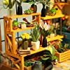 ROBOTIME DIY Dollhouse Wooden Miniature Furniture Kit Mini Green House with LED Best Birthday Gifts #3