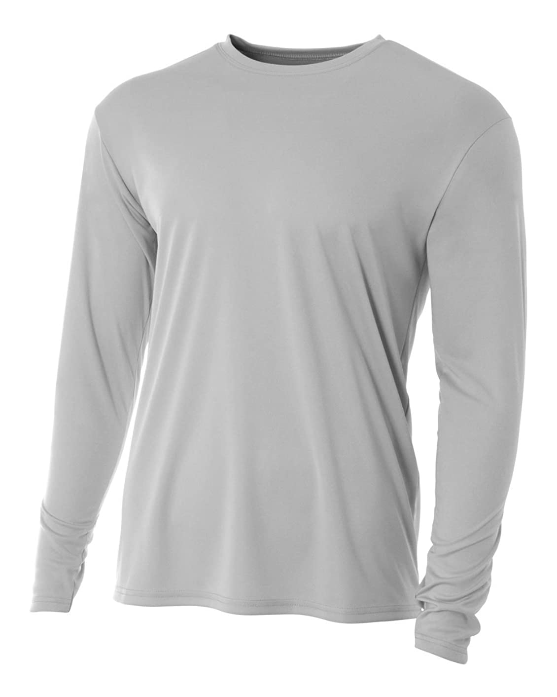 Long Sleeve Wicking Moisture Management Cooling Athletic Shirt/Undershirt Crewneck (All Sports: Baseball, Softball, Soccer, Volleyball, Football, Basketball, Casual Wear…)