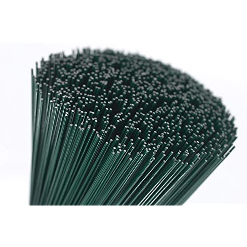 """250g green lacquered (75 Wires) 14"""" Florists Thick Stub Wire 18 Gauge"""
