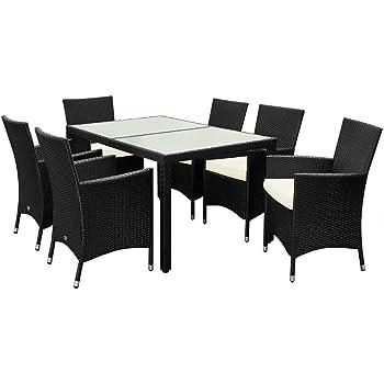 Poly Ratán muebles de jardín mesa de comedor y sillas Set ...