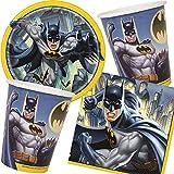 Neu: 33-teiliges Party-Set * Batman * für Kindergeburtstag mit Teller + Becher + Servietten + Deko...
