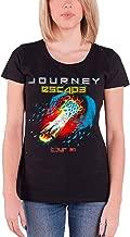 Journey T Shirt Escape Tour 1981 Band Logo Official Womens Junior Fit Black