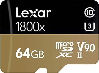 Lexar Professional 1800x microSDXC 128GB UHS-II W/USB 3.0 Reader Flash Memory Card - LSDMI128CRBNA1800R 64GB