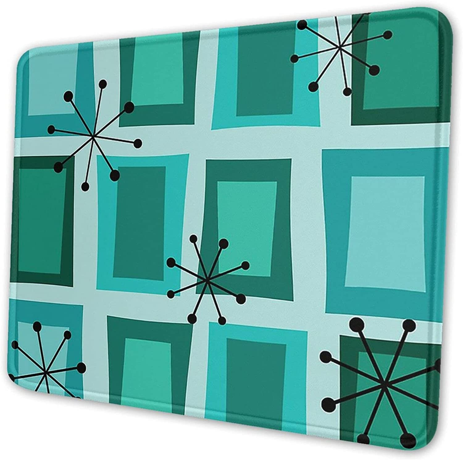 Mid Century Modern Art Max 69% OFF 'Wonky Gaming Turquoise Doors' OFFicial site R Mousepad