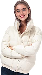 Brave Soul Womens Slay Padded Funnel Neck Jacket in Off White.