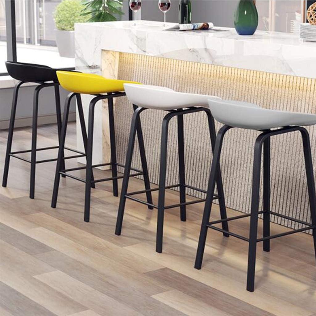 Chaise de Bar en Fer Forgé À La Mode Avec Chaise de Salle À Manger, Choix de Couleurs Variées 75cm (Color : Black) Gray