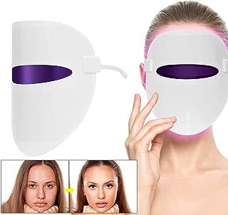 Belleza LED Fotón Terapia De 4 Colores, Fotón Terapia De Luz Roja para Rejuvenecimiento De La Piel Sana Colágeno Anti Arrugas del Envejecimiento, Cicatrices En La Piel Máscara De La