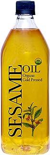 Daana Organic Sesame Oil: EXTRA VIRGIN, COLD PRESSED 34 Fl oz (Pack of 1)