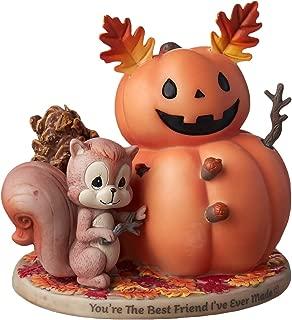 Precious Moments Squirrel and Pumpkin Friend Bisque Porcelain Figurine, Multi