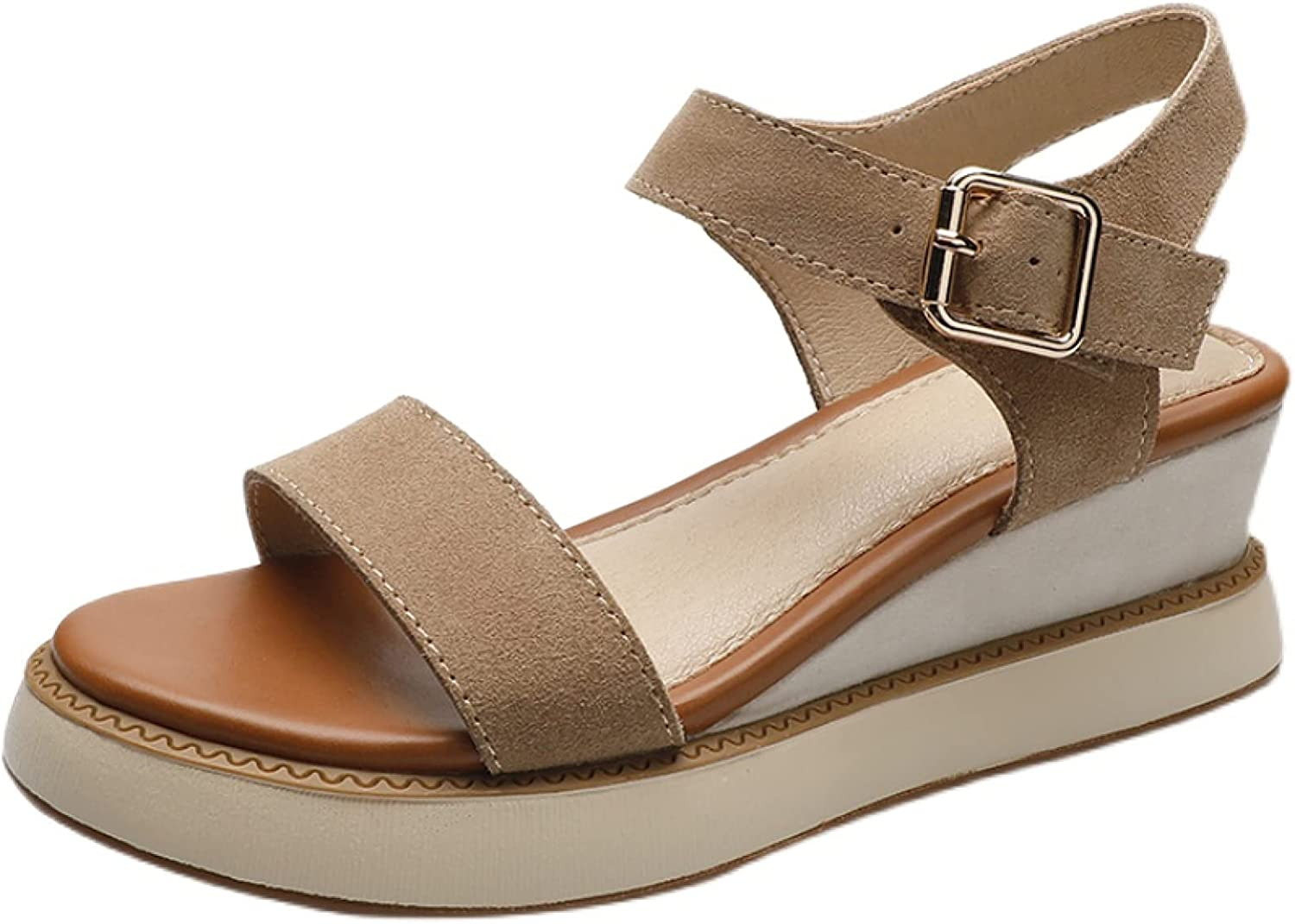 Women's Platform Max 78% OFF Wedge Sandals Matte Directly managed store Fashionable Vamp Microfiber