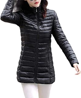 Macondoo Women Thicken Outwear Cotton-Padded Quilted Puffer Down Jacket