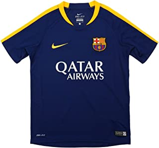 2015/16 Boys FC Barcelona Flash Training Soccer Short-Sleeve Shirt [Loyal Blue]