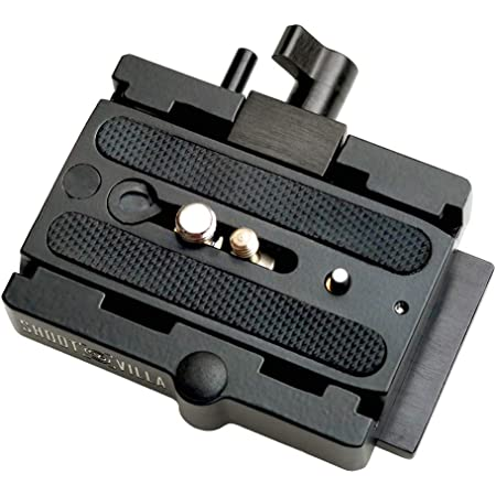 Shootvilla Quick Release Base Plate Aluminium for Tripod and DSLR Video Camera Stabilizer Slider
