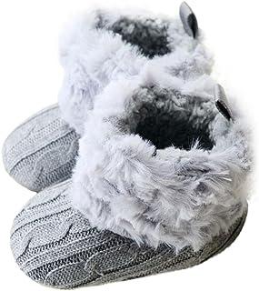 Orangeskycn Botas de Invierno Bebé Niña Caliente Zapatos para Niño Bowknot Suela Suave Zapatos