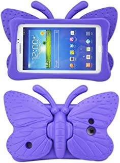 Tading Kids Case for Samsung Galaxy Tab 4/3/3 Lite 7.0 inch Tablet, Lightweight Shockproof EVA Foam Super Protection Stand Cover for SM T230 P3200 T110 (Not Fit Samsung Galaxy Tab 3/4 10.1