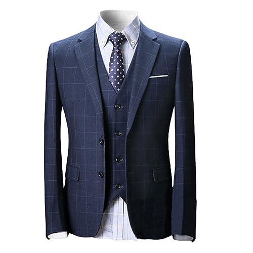 22d6449394620 Wolfmen スーツ スリーピース メンズ 2つボタン 多色 スリム 防シワ ネクタイ付き ジレベスト ビジネス