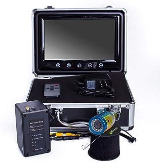 TIAOTIAO 15M 1000TVL 魚群探知機 水中釣りカメラ 9インチ ビデオモニター アンチサンシャインシールド サンバイザー 赤外線 IR LED