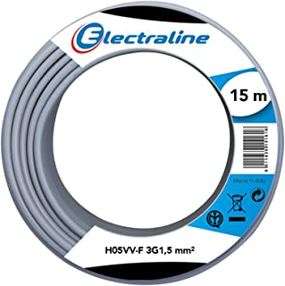 Electraline 60107076I Cable Reel H05VV-F 15 m 3G 1.5 mm2