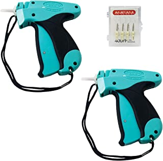 Amram Comfort Grip Tagging Gun for Clothing with 2 Tagging Guns and 6 Needles; Fine Tagging Applications